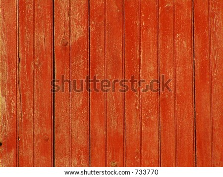 RED BARN BOARDS - stock photo