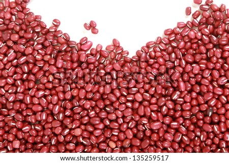 red beans isolated on white background - stock photo