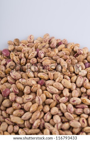 red beans on white background - stock photo