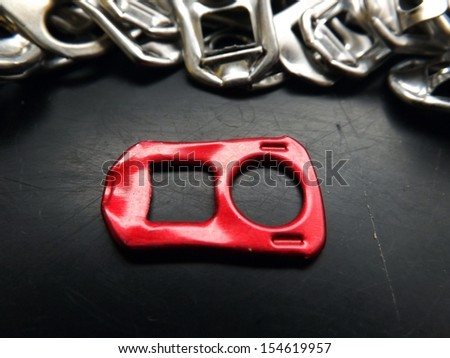 Red Beer Tab - stock photo