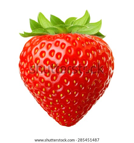 Red berry strawberry isolated on white background - stock photo