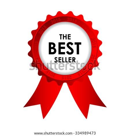 red best seller badge  - stock photo