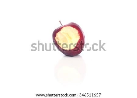 Red bitten apple  - stock photo