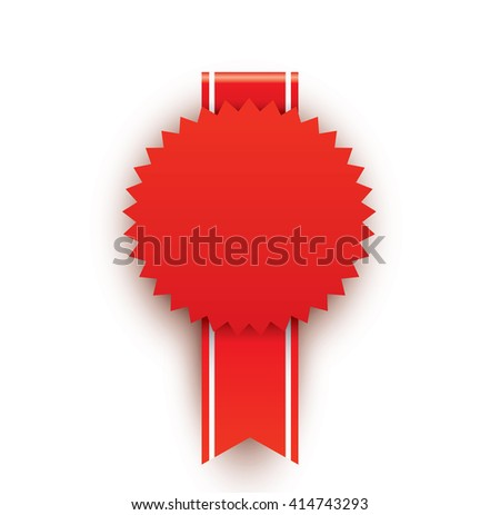 Red blank award - stock photo