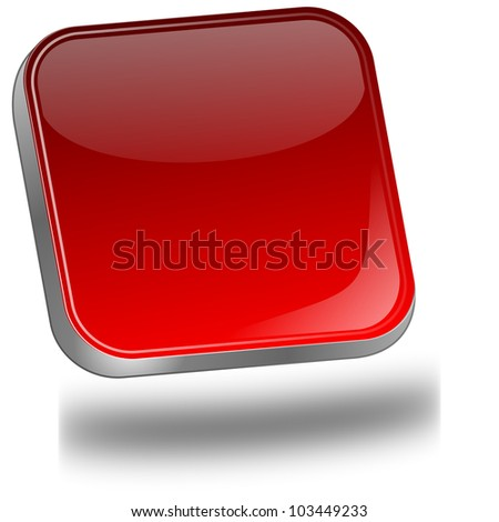 red blank Button - stock photo