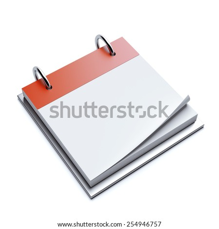 Red blank calendar  - stock photo