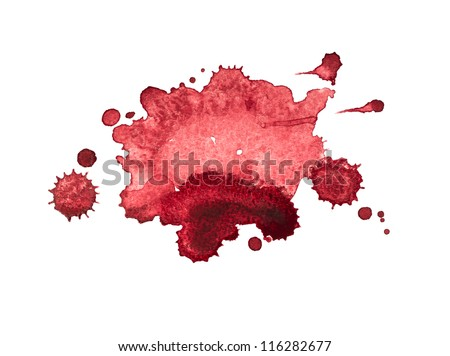 red blots - stock photo