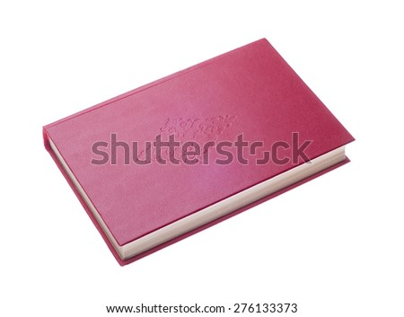 red book isolated on a white background - stock photo