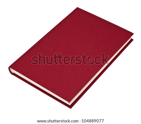 Red book isolated on white - stock photo