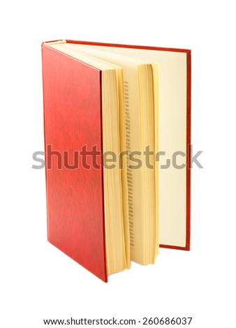 red books isolated on white background - stock photo