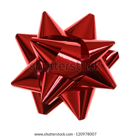 red bow isolated - stock photo