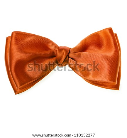 red bow tie isolated on white background - stock photo