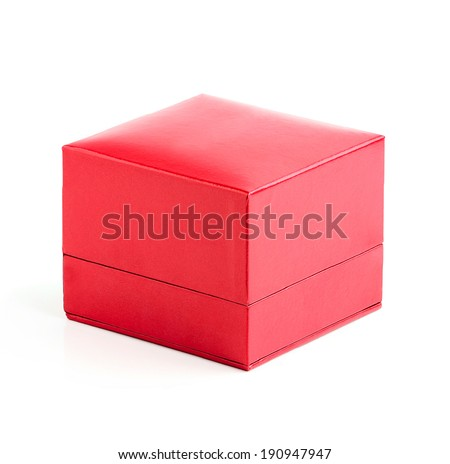 Red box isolated on a white background. - stock photo