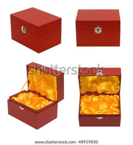 Red box 4 view - stock photo