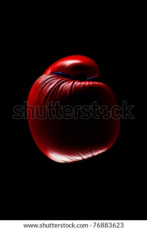 Red Boxing Gloves on dark background - stock photo