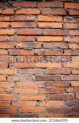 Red brick background - stock photo