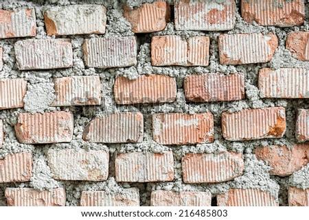 Red Brick Seamless Texture background - stock photo