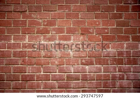 Red Brick seamless wall - stock photo