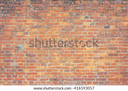 Red brick wall - stock photo