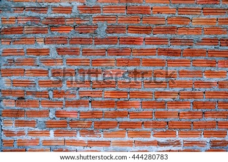 Red brick wall background. Vintage brick wall texture. - stock photo