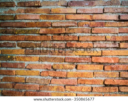 Red brick wall texture background, brick wall texture in old house - stock photo