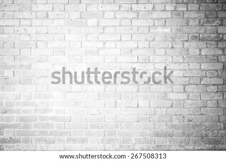 Red Brick wall texture background Soft tone White color - stock photo