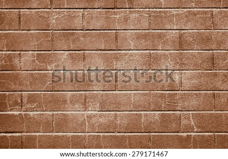 Red Bricked Wall Background - stock photo