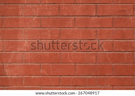 Red Bricked Wall Texture - stock photo