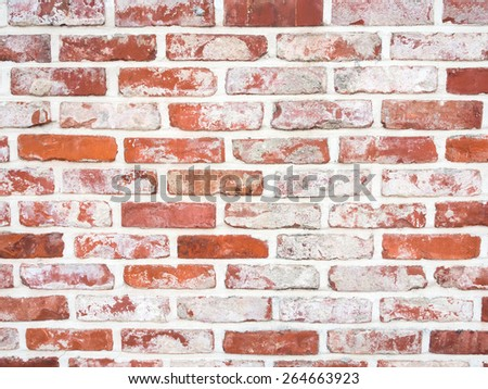 Red brickwall surface texture background - stock photo