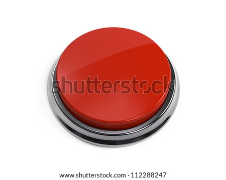 Red Button 3D - stock photo