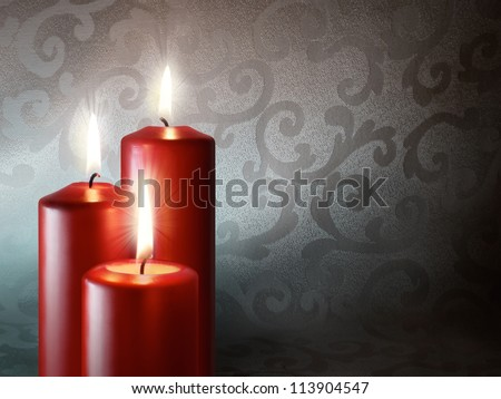 Red Candles - stock photo