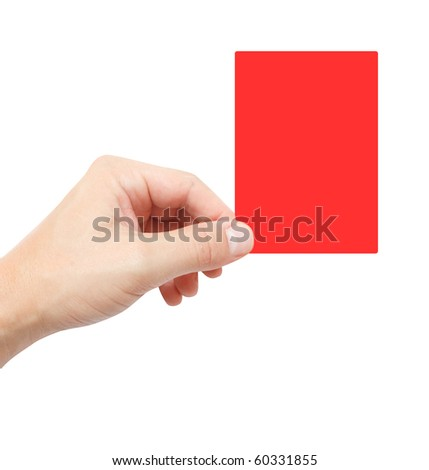 Red card - stock photo