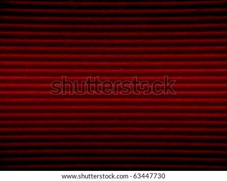 Red cardboard paper with stripe pattern texture - stock photo