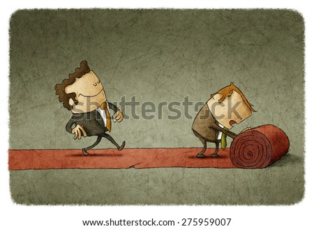 Red carpet business - stock photo