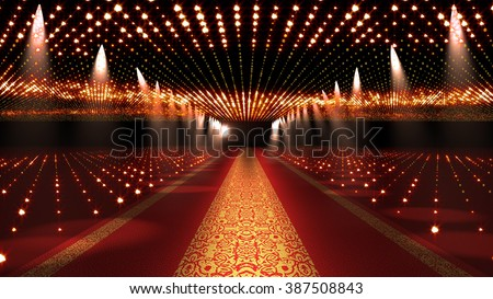 Red Carpet Festival Glamour Scene Illustration - stock photo