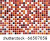 red ceramic mosaic using in pool background - stock photo