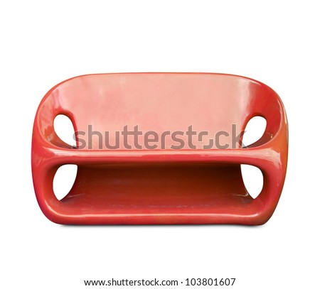 Red chair modern on a white background - stock photo