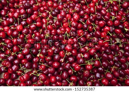 Red Cherries.  - stock photo
