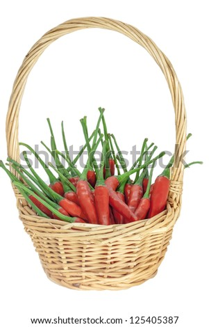Red chili in a basket. - stock photo