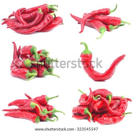 Red chili pepper  - stock photo