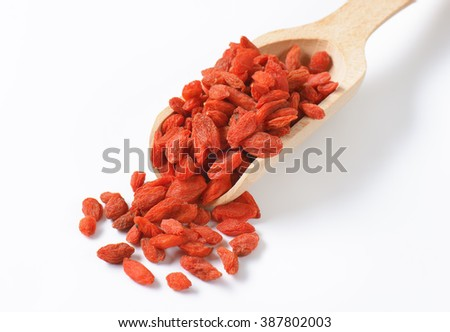Red chinese wolf berry fruit - stock photo