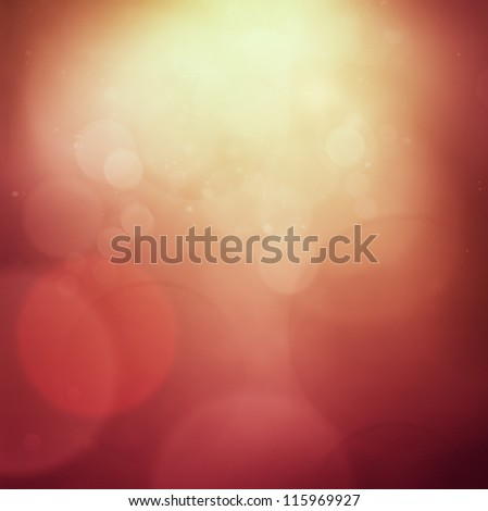 Red Christmas abstract background with bokeh lights - stock photo