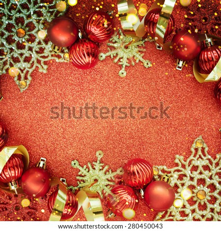 Red christmas  background - stock photo