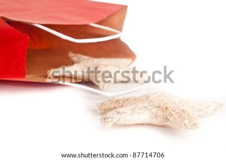 Red Christmas Bag - stock photo