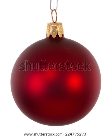 Red christmas ball ornament - stock photo