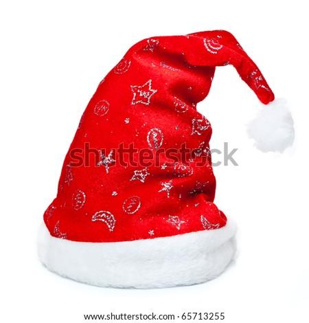 Red Christmas Cap - stock photo