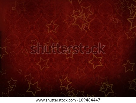 red christmas grunge background - stock photo