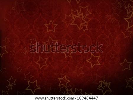 red christmas grunge background - stock photo