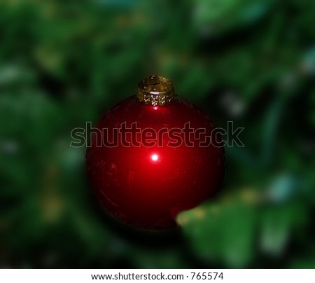 red christmas ornament - stock photo