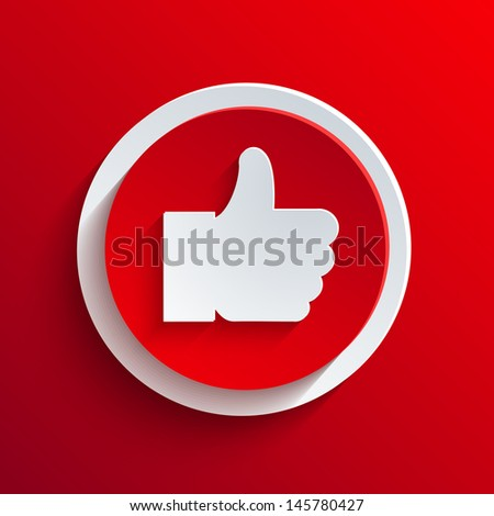 red circle icon. - stock photo